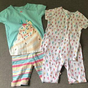 4 piece short pajamas